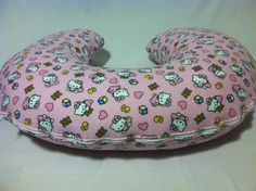 Pink Hello Kitty Boppy Cover, Baby Girl, Nursing Pillow Cover, Baroo Cover, Mombo Cover, Breastfeeding