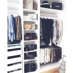 Closet Organization Ideas - See extra ideas about Organizing tips, Walk in Closet and also Walk in wardrobe . Master Closet, Closet Bedroom, Closet Space, Home Bedroom, Bedrooms, Ikea Pax Closet, Ikea Pax Wardrobe, Bathroom Closet, Ikea Bedroom