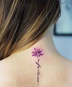 Fortune Flower Quote Tattoos on Neck for Girls #tattoosonnecksmall