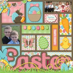 Easter - Scrapbook.com - Layout Idea