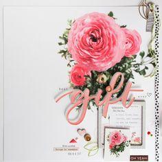 "scrapbook layout ""gift"" by kushi | www.kkushi.com    #scrapbooking #kkushi #scrapbooklayout #bazzill"