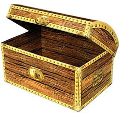 An ideal pirate treasure for a party. Classic Pirate Treasure Chest Prop is perfect for your next party! Pick from 2 sizes: (SMALL) Treasure Chest Box x x assembly required Decoration Pirate, Pirate Party Decorations, Paper Decorations, Party Themes, Themed Parties, Party Ideas, Pirate Treasure Chest, Treasure Maps, Treasure Boxes