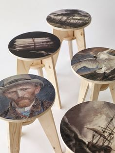 Foldable stool by NLXL and Piet Hein Eek