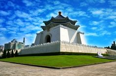 The National Chiang Kai-shek Memorial Hall, a famous monument erected in memory of Chiang Kai-shek, former President of the Republic of China, is located in Taipei, Taiwan (ROC).  Come visit Taiwan to figure out its amazing design and symbolism.   :=)  @ Zhongzheng District, Taipei City, Taiwan (R.O.C.)   To travel Taiwan (Asia), please visit the website: timefortaiwan.tw/EN