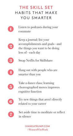 The Skill Set Habits that Make You Smarter Self Development, Personal Development, Self Care Activities, Time Activities, Life Advice, Career Advice, Self Improvement Tips, Self Care Routine, How To Better Yourself
