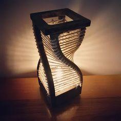 Lampada tortile DNA di Woodenlight and More