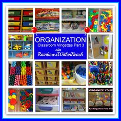 Classroom Organization Vignettes (RoundUP via RainbowsWIthinReach)