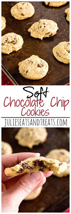 Soft Chocolate Chip Cookies ~ Delicious, Soft, Chewy Chocolate Chip Cookie Recipe with Pudding in the Mix!