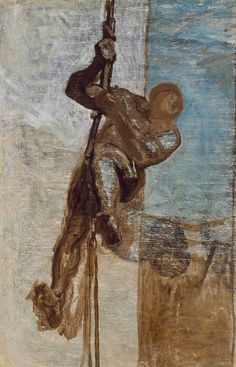 Man on a Rope, Honoré Daumier
