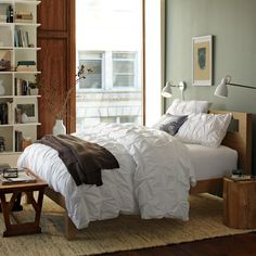 Low Wood Cutout Headboard in Barley from west elm