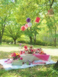 春のお花のピクニック : こどものにわ
