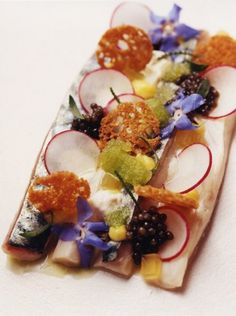 Mackerel seviche at Vinkeles, a contemporary French restaurant in Amsterdam