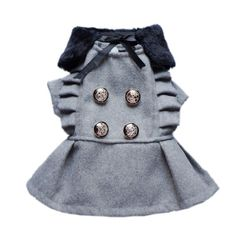 Graceful Trendy Dog Wool Coat Dog Double Breasted « Pet Lovers Ads