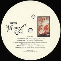 This Mortal Coil - Filigree & Shadow (Side 1 label)