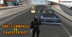 It's time for justice in Swat Commando vs Gangster Riot! Play as an Swat Commando in this action-packed game, Install on your #Android now: http://bit.ly/Mobango_SwatCommandoVsGangster