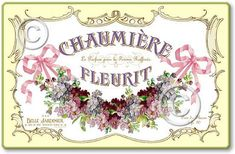 vintage perfume label images | Item 5311 Vintage Style French Perfume Label Plaque