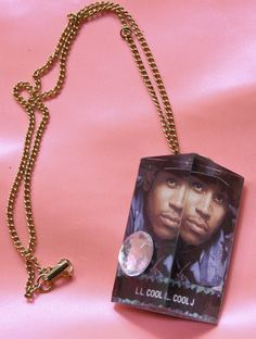 LL COOL J necklace by christinehucal on Etsy, $20.00 //cute after I pluck that diamond off.