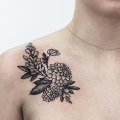 Olga Nekrasova flower tattoo