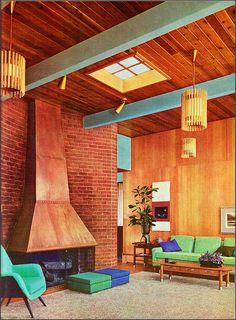 Living room design 1960s