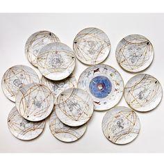 Zodiaco Set of Four Dinner Plates - Shop Laboratorio Paravicini online at Artemest