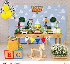 Festa Toy Story Woody Birthday, Baby Birthday Themes, Second Birthday Ideas, Baby Boy Birthday, Toy Story Birthday, 6th Birthday Parties, Fête Toy Story, Toy Story Baby, Toy Story Theme