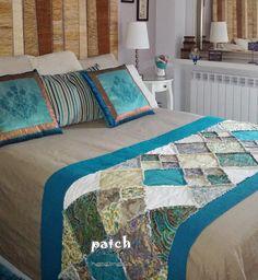 Patchmake. Blog de patchwork: Pie de cama - Rag quilt