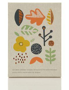 Art easel desk calendar 2015 M&S