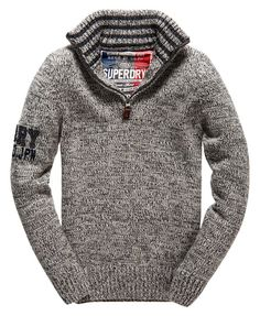 Vintage Knit in Light Grey by Superdry available at Blowes Clothing Muži Z  Minulosti 42c2f06460