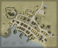 Coastal Village Remake by Ashlerb on DeviantArt in 2020 Fantasy city map Fantasy village Fantasy city