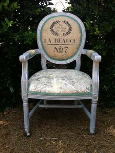 Vintage Shabby Chic French Louis XVI Arm Chair by THRONEupholstery, $529.00