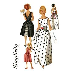 1960s Evening Dress Pattern Simplicity 3903 Misses by CynicalGirl, $34.00