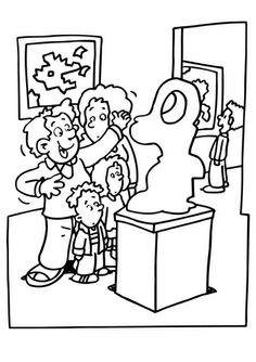 Coloring Page museum Free Coloring Sheets, Colouring Pages, Image Categories, Kindergarten Art, Woodland Party, Kitsch, Art Images, Art Projects, Comics