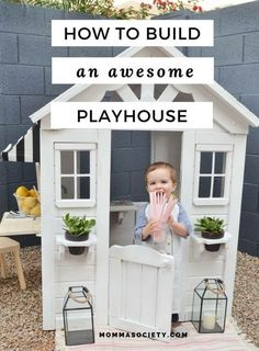 Outdoor Playhouse DIY Renovation   Painted Wooden Playhouse