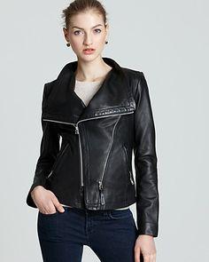 Black Fashionable Women's Jacket With Double Zipper Vintage Leather Outer Wear Lederjacke Black Biker Jacket, Moto Jacket, Studded Jacket, Jackets For Women, Clothes For Women, Jacket Style, Swagg, The Ordinary, Biker Leather