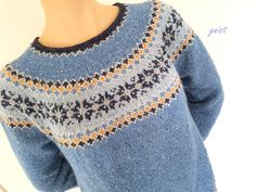 ~GNIST~ StjerneBragd Tweed, Pullover, Knitting, Crochet, Sweaters, Fashion, Damasks, Threading, Blouses