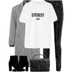 Untitled #3277 by elenaday on Polyvore featuring polyvore, fashion, style, Givenchy, Topshop, Yves Saint Laurent, IRO and clothing