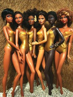 Ethnic Dolls .... love them! They remind me of the SOLID GOLD DANCERS - remember them?
