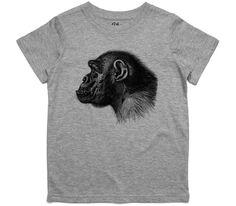 El Cheapo Profile of a Chimp (Black) Toddler Grey Marle T-Shirt