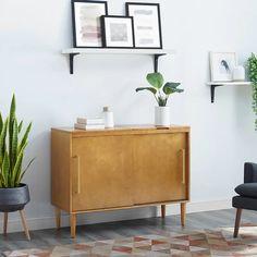 Modern Home Furniture In Everett Modern Home Furniture, Door Furniture, Living Room Furniture, Rustic Furniture, Sliding Cabinet Doors, Mid Century Modern Design, At Home Store, Adjustable Shelving, All Modern