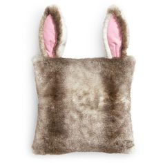 H&M Fake fur cushion cover ($19) found on Polyvore featuring h&m, rabbit and beige