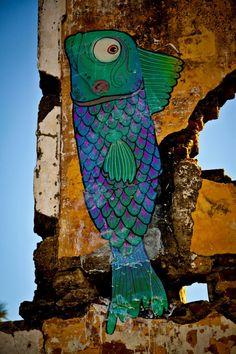 #peixeforadagua de Nando Zevê #urbanart #art #illustration #brazil
