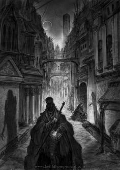 City Street from the Arcane Codex book Goremound. Keith Thompson.