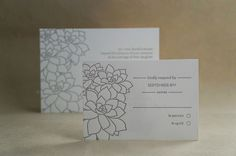 Succulent :: Letterpress Invitation from Drippy Ink