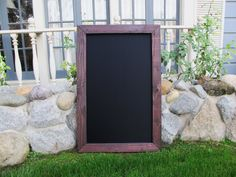 Repin to win a Large Framed Chalkboard from Elegant Signs! Ends 2/9/14 #giveaway #etsy #chalkboard #framedchalkboard