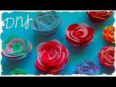 Tutorial: Rose in Feltro o Pannolenci Fai Da Te | DIY Felt Rose - YouTube