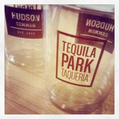 Double your branding by printing on both sides of the cup - at no extra cost! @Morgans Hotel Group maximized their marketing impact this way. #sneakpeek #tequila #hudson #nyc #newyork #tequilapark #hotel
