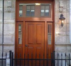 Solid Wood Entry Door