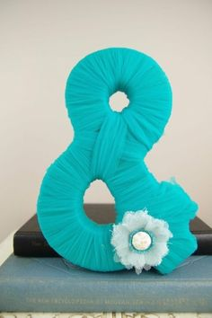 Tiffany blue tulle ampersand  etsy  tiffany blue wedding by letha..instead of the flower we could do a brochette