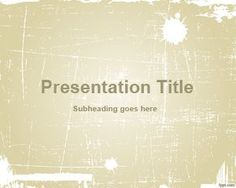 Sepia Abstract PowerPoint Template