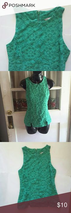 Banana Republic top Green floral  lace top 2 slits at the bottom 15 inches from armpit to armpit 21.5 inches from shoulder to bottom of shirt Banana Republic Tops